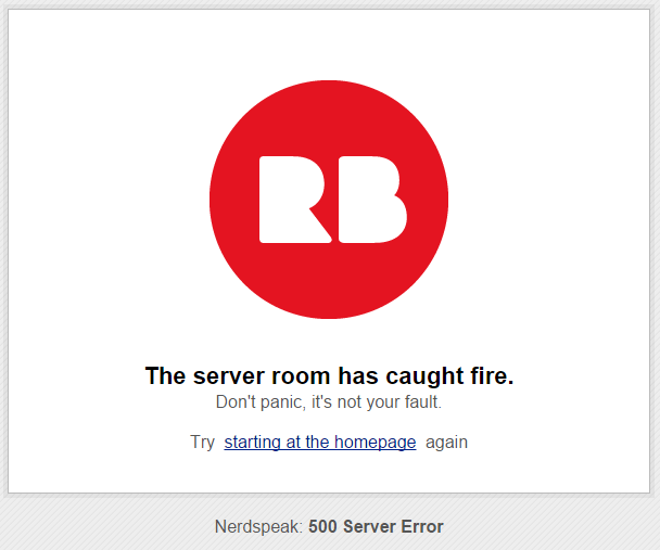500 server room on fire